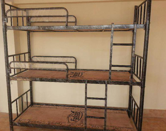 3 tier bunker bed with 4 stoppers and 2 ladders