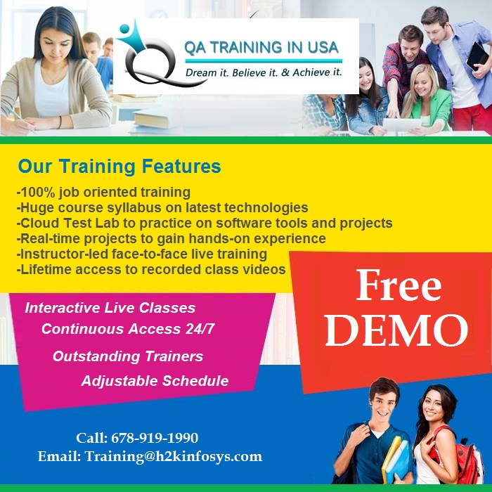 The Best QA Online Training in USA with Placements
