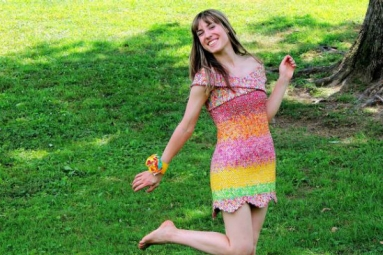 Pennsylvania woman made a dress out of candy wrappers