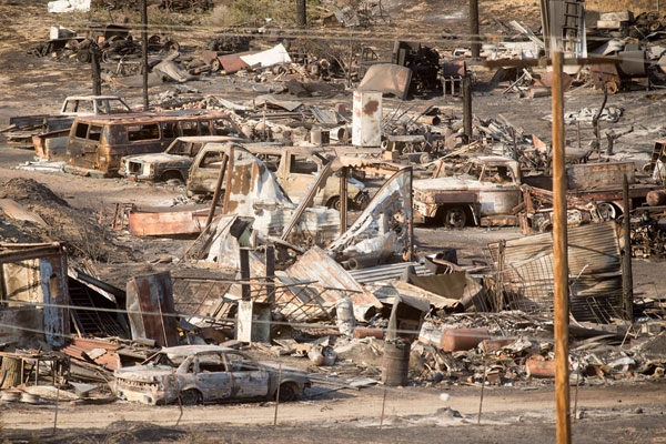 Fire-fighters made significant progress in California